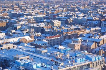 Panoramic view of Riga city, the capital of Latvia