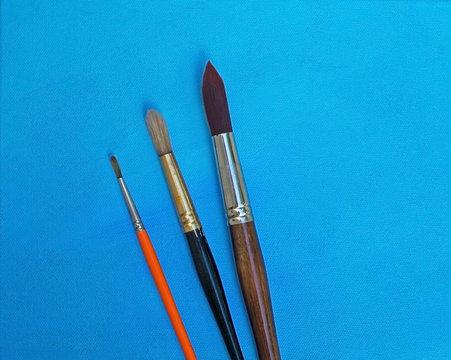 Three brush sizes