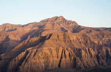 Stunning desert mountain scenery of Jabal Jais in the UAE