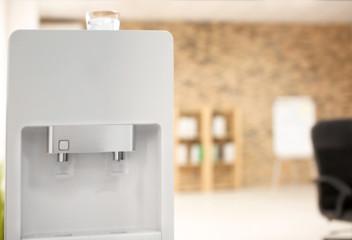 Modern water cooler indoors