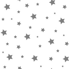 Seamless Star Monochrome Background. Stars seamless pattern