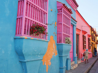 Colorful houses of Cartagena, Colombia