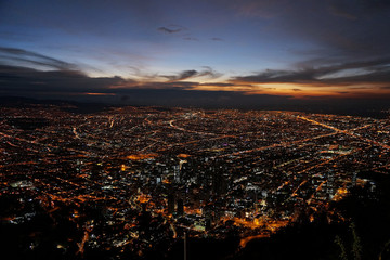 night view of Bogota, Colombia