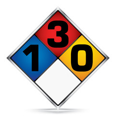 International Diamond 1-3-0 Symbols,White,Blue,Red,Yellow Warning Dangerous icon on white background,Attracting attention Security First sign,Idea for,graphic,web design,Vector,illustration,EPS10