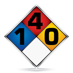 International Diamond 1-4-0 Symbols,White,Blue,Red,Yellow Warning Dangerous icon on white background,Attracting attention Security First sign,Idea for,graphic,web design,Vector,illustration,EPS10