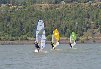 Wind Surfing in Hood River Oregon.