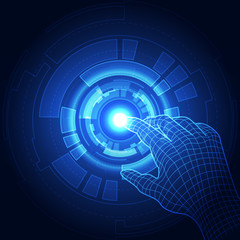 Vector, Touch the future,Interface technology, the future of user experience. abstract background