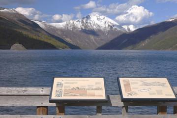 Mountain range and lake near mt. St Helen's WA.