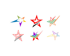 Vector Collection of Star Isolated logo