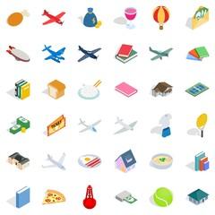 Multitude icons set, isometric style