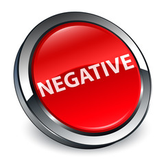 Negative 3d red round button