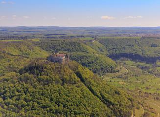 Burg Hohenneuffen aus der Luft