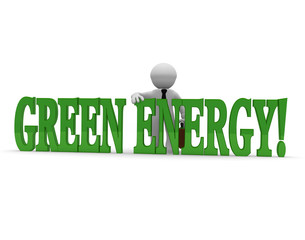 Green Energy, 3d concept image