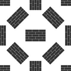 Bricks icon seamless pattern on white background. Flat design. Vector Illustration
