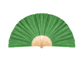 Green Fan isolated on white