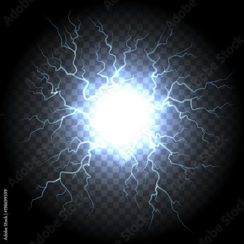 ball lightning electric vector lightning flash explosion