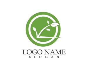 Eco plant logo design concept