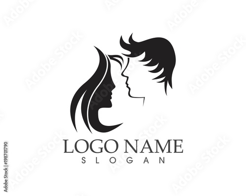 Haircut Style Logo Design Vector Illustration Stock Image And