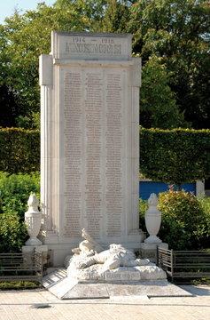 Château-Thierry, ville département de l'Aisne, monument aux Morts, France