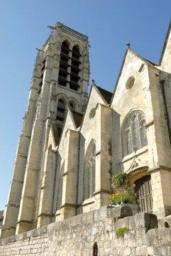 Château-Thierry, ville département de l'Aisne, église Saint Crépin, France