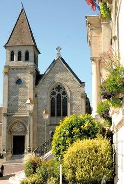 Château-Thierry, ville du département de l'Aisne, église réformée américaine, France