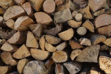 Stapled fire wood
