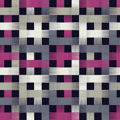 Seamless geometric pattern. The texture of the strips. Scribble texture. Textile rapport.
