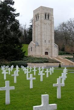 Château-Thierry, ville département Aisne, cimetière américain, France