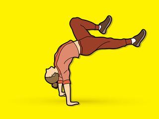 Dancer practice, Street dance graphic vector