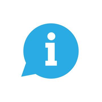 Information icon, info sign, vector illustration. Flat design.