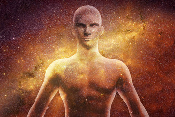 Human body in the universe Wall mural