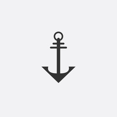 Anchor emblem. Template sailor icon. Marine symbol symbol. Vector illustration of a yacht club, travel agency. theme of travel. Graphic logo, logotype for design