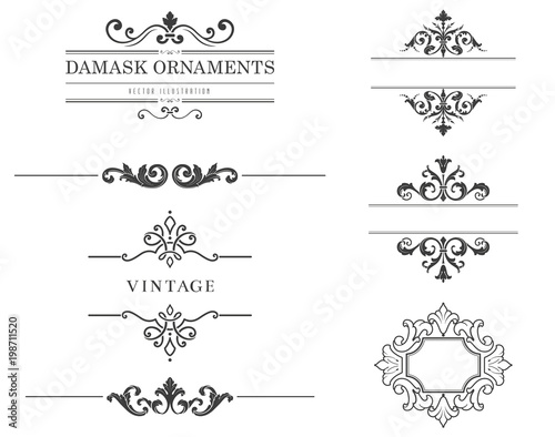 Vintage Text Frames and Dividers\