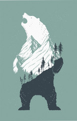 Standing Bear Illustration