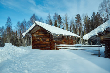 Russian Traditional wooden peasant house