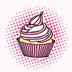 Dessert icon hand drawn cake sweet food stock illustration