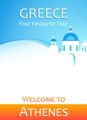 Vector Flyer Banner - You Favorite Tour to Greece