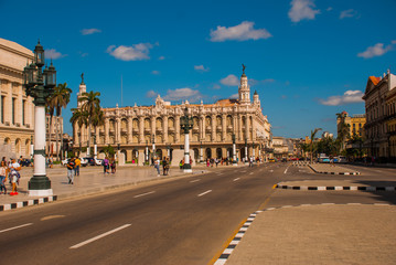 The Great Theater of Havana on a beautiful sunny day. Cuba