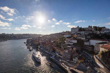 Aerial view of Porto and Ribeira