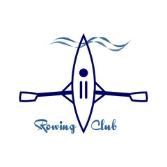 Vector image emblem for rowing