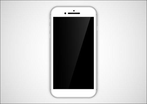 white iphone design. realistic smartphone design