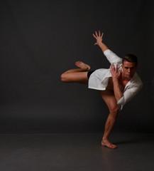 man dances, sport, concept, ballet