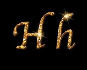 Shinning golden luxury typographic alphabet text word fonts