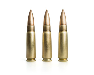 Three bullets on white background, including clipping path
