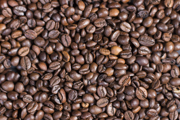 Pattern of roasted coffee beans