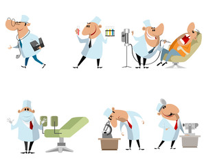 Six different doctors