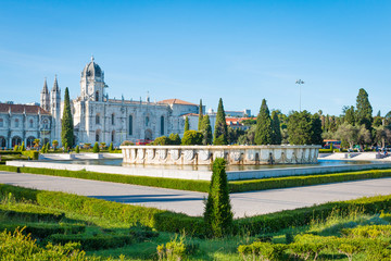 Lisbonne jardin de Belem place de l'empire