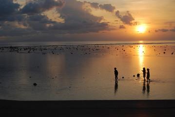 coucher de soleil indonésie Lombok