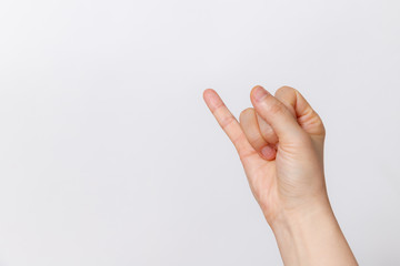 finger gestures isolated white background