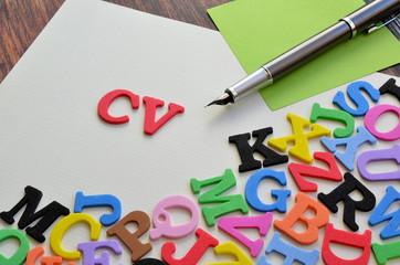 CV oraz litery